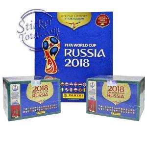 ALBUM + 2 SEALED BOX x 104 ENVELOPES RUSSIA 2018 – PANINI