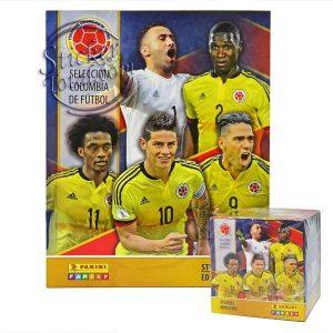 ALBUM + SEALED BOX x 50 ENVELOPES COLOMBIA TEAM FOOTBALL 2018 – PANINI