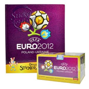 HARD COVER ALBUM + SEALED BOX GERMAN EDITION EURO 2012 – PANINI
