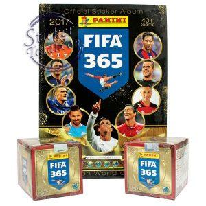 ALBUM + 2 BOXES FIFA 365 2017 PANINI