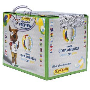 SEALED BOX x 50 ENVELOPES COPA AMERICA 2020 PREVIEW – PANINI