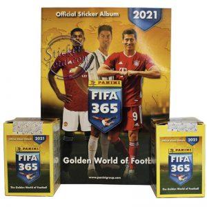 FIFA 365 2021 PANINI 2 SEALED BOXES + EMPTY ALBUM