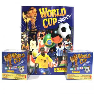 2 SEALED BOXES + ALBUM WORLD CUP STORY – PANINI
