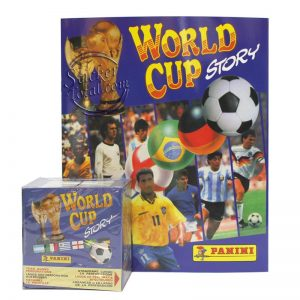 SEALED BOX + ALBUM WORLD CUP STORY – PANINI