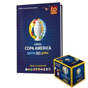 HARDCOVER ALBUM + SEALED BOX x 50 ENVELOPES COPA AMERICA 2021 – PANINI