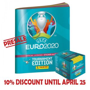 ALBUM + SEALED BOX x 50 ENVELOPES EURO 2020 – PANINI