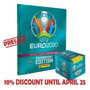HARDCOVER ALBUM + SEALED BOX x 50 ENVELOPES EURO 2020 – PANINI